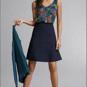 CAbi Navy Dame Skirt NWOT